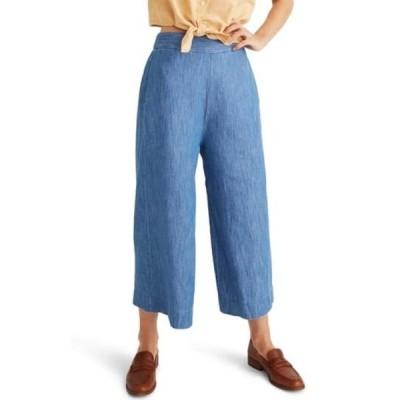 メイドウェル レディース カジュアルパンツ ボトムス Huston Pull-On Chambray Crop Pants GLADSTONE WASH