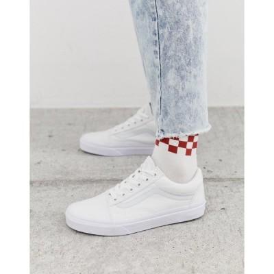 バンズ レディース スニーカー シューズ Vans classic Old Skool triple white sneakers White