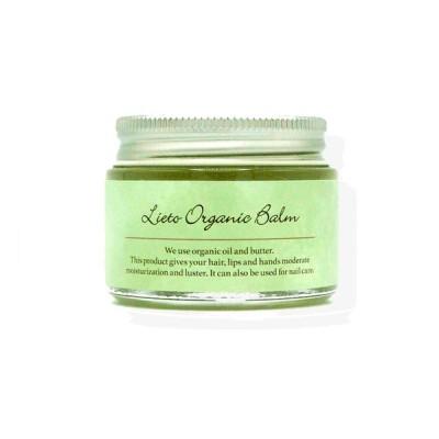 即日発送 Lieto OrganicBalm リエット オーガニックバーム ヘアバーム ヘアケア つや髪 濡れ髪 スタイリング ヘアケア ワックス 無着色 パラベンフリー