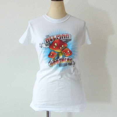 The Allman Brothers Band オールマン・ブラザーズ・バンド Tシャツ マッシュルーム ホワイト レディース ロックTシャツ バンドTシャツ 送料無料