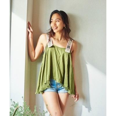tシャツ Tシャツ ONETEASPOON AZTEC TALUM CAMI TOP (ワンティースプーン アステカ)(KHAKI)(Tシャツ/カット