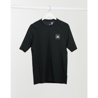 アディダス adidas performance メンズ Tシャツ トップス Adidas Training BOS badge logo t-shirt in black ブラック