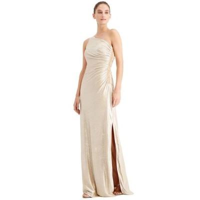 カルバンクライン レディース ワンピース トップス One-Shoulder Metallic Gown