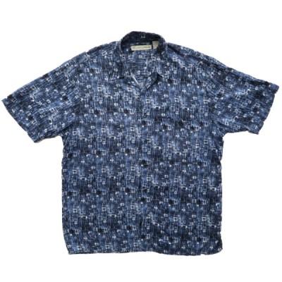 総柄 ボックスシャツ 半袖 サイズ表記:L