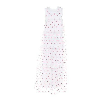 パロッシュ P.A.R.O.S.H. ロングワンピース&ドレス ホワイト XS ナイロン 100% / コットン / ポリエステル ロングワンピース