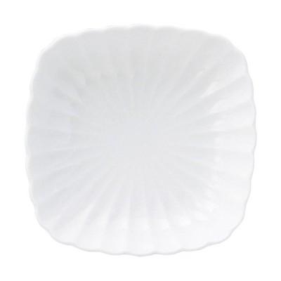 (業務用・正角皿)かすみ 12cm丸角皿 白(入数:5)