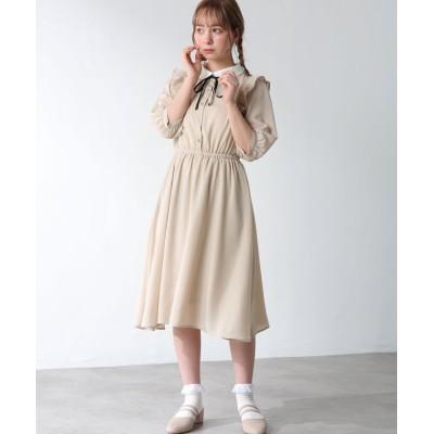 【ハニーズ】 衿付ワンピース レディース ベージュ S Honeys