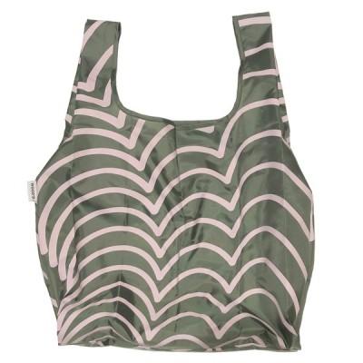 "WOOD'D ""GREEN WAVES"" Reusable Polyester Bag  ウッド ポリエステル エコバッグ マイバッグ 16リットル"