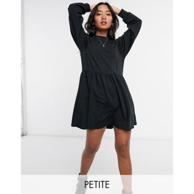 ニュールック New Look Petite レディース ワンピース ワンピース・ドレス High Neck Sweat Dress In Black ブラック
