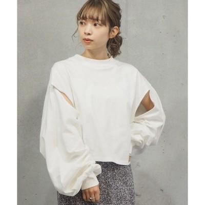 tシャツ Tシャツ 【web限定アイテム】2021SS スリットデザインモックネックロンT