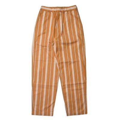 ウェルダー WELLDER 19SS 日本製 Drawstring Easy Trousers ドローストリングイージートラウザーズ WM19SPT11 3 Amber(オレンジ) パンツ ストライプ