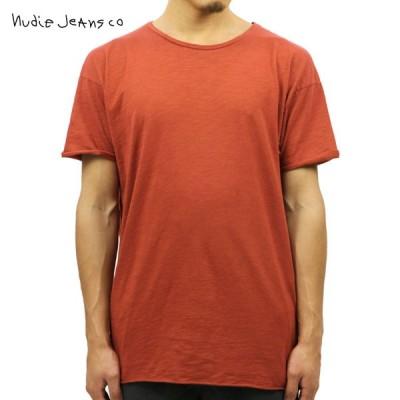 ヌーディージーンズ Tシャツ メンズ Nudie Jeans 正規販売店 半袖 Raw Hem T-Shirt Red 1