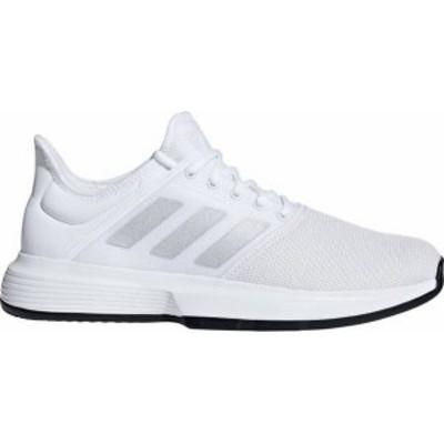 アディダス メンズ スニーカー シューズ adidas Men's GameCourt Tennis Shoes White/Black
