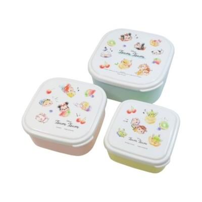 ディズニーツムツム ディズニー キャラクター お弁当箱 入れ子 ランチボックス 3Pセット プププロリポップ カミオジャパン