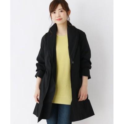 【シューラルー】 ガウン風ナイロンミディコート レディース ブラック 03(L) SHOO・LA・RUE