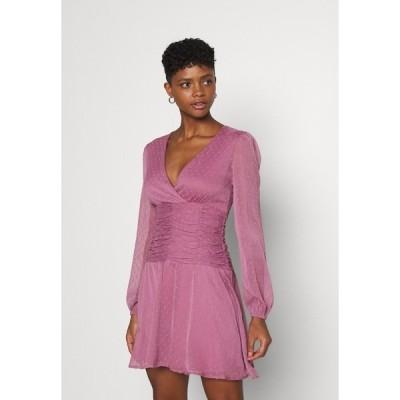 ニリーバイネリー ワンピース レディース トップス OWN IT DRAPY DRESS - Cocktail dress / Party dress - dark rose