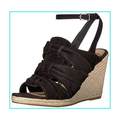 [Sam Edelman] Women's Awan Wedge Sandal, Black Suede, Size 6.0