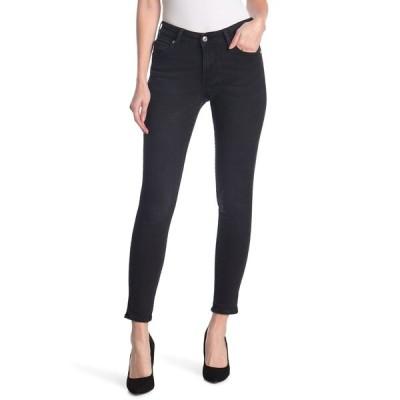 トゥルーレリジョン レディース デニムパンツ ボトムス Jennie Mid Rise Curvy Skinny Jeans WASHED BLACK