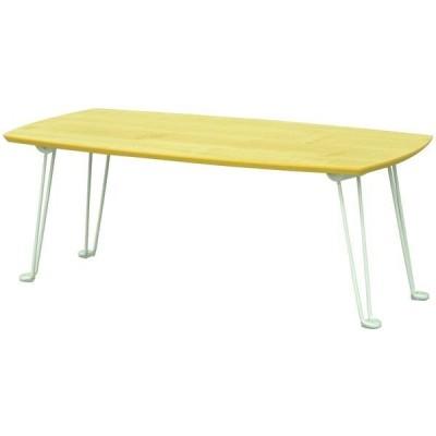 エイ・アイ・エスエイ・アイ・エス メラミン木目調テーブル ナチュラル 幅800×奥行400×高さ305mm SRMM-7NA NA 1台(直送品)