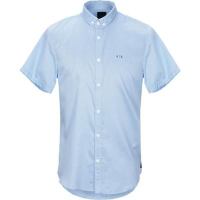 アルマーニ ARMANI EXCHANGE メンズ シャツ トップス Patterned Shirt Sky blue