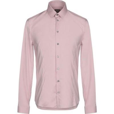 パトリツィア ペペ PATRIZIA PEPE メンズ シャツ トップス solid color shirt Pastel pink