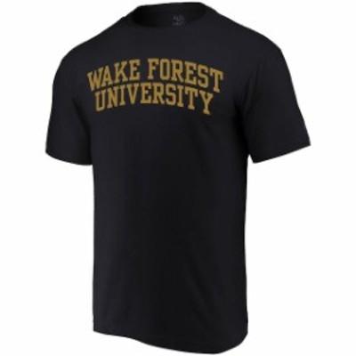 Alta Gracia アルタ グラシア スポーツ用品  Alta Gracia (Fair Trade) Wake Forest Demon Deacons Black Arched Wordmark T-Shirt