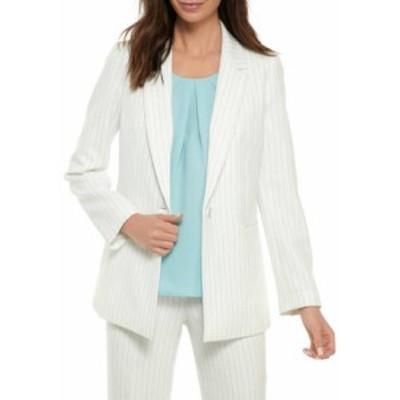 ナインウェスト レディース ジャケット・ブルゾン アウター Women's One Button Pinstripe Jacket Lily Multi Stripe