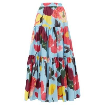 ラダブルジェー La DoubleJ レディース ロング・マキシ丈スカート スカート Big floral-print poplin maxi skirt Blue