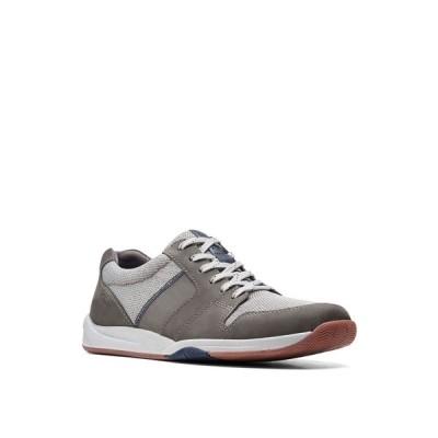 クラークス ドレスシューズ シューズ メンズ Men's Langton Race Lace-Up Shoes Gray Nubuck