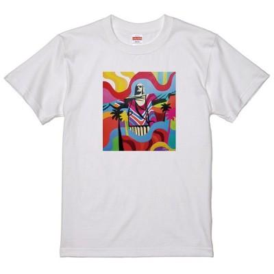 レインボーアート Tシャツ キリスト 石像 コルコバード LC17