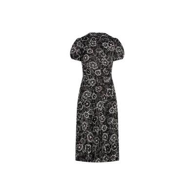 POLO RALPH LAUREN/ポロ ラルフ ローレン フローラル サテン Aライン ドレス 001ブラック 4