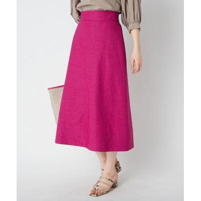 【手洗い可】リネンライクオックスAラインスカート