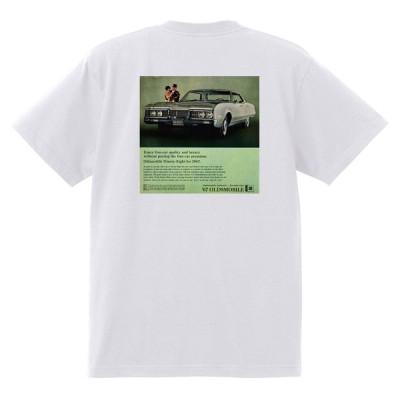 アドバタイジング オールズモビル 569 白 Tシャツ 黒地へ変更可能 1967 カトラス ビスタ トロネード 98 88 デルタ ホットロッド ローライダー