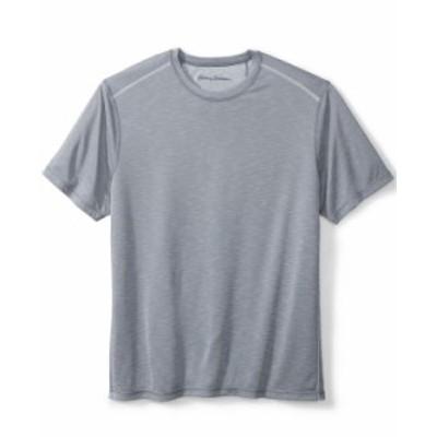 トッミーバハマ メンズ Tシャツ トップス Men's IslandZone Flip Tide Reversible Performance T-Shirt Dk Pewter