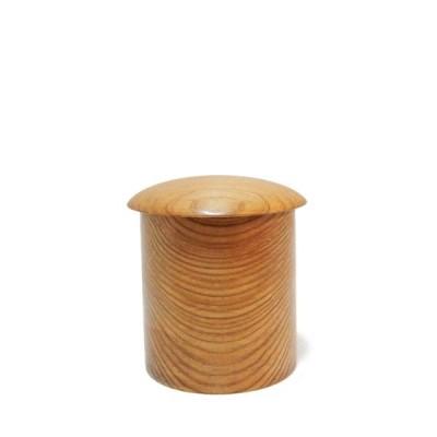 「木の品」金輪寺 屋久杉 筍杢 無垢材 Φ5.0cm×6.3cm (7) 茶器 茶道具 Wooden goods