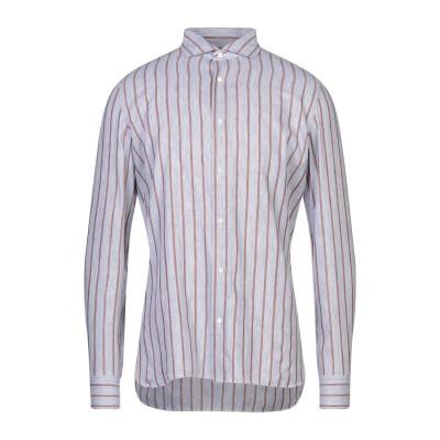 NUGNES シャツ グレー 40 コットン 70% / リネン 30% シャツ