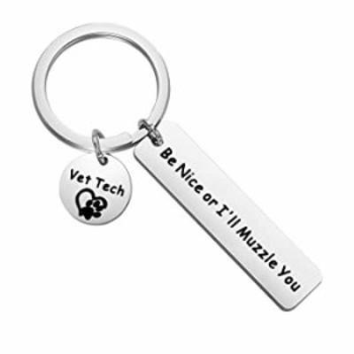CYTING Vet Techs Gift Be Niece Or I'll Muzzle You Veterinarian Keychain Vet Tech Appreciation Gift Veterinary School Graduation