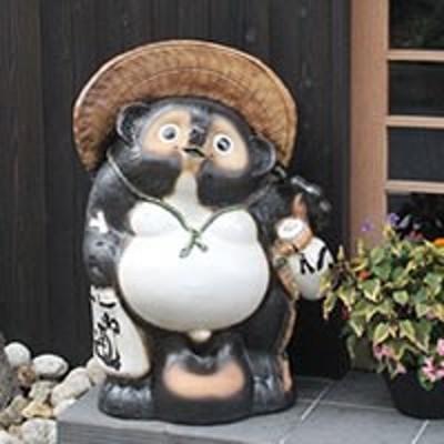 たぬき 置物 名入れ 30号福ひねり狸縁起物の置物信楽焼 おしゃれ 和風 陶器 【手作り】