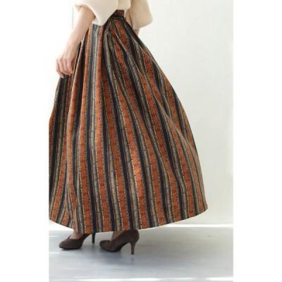 スカート 点線ストライプの スカート