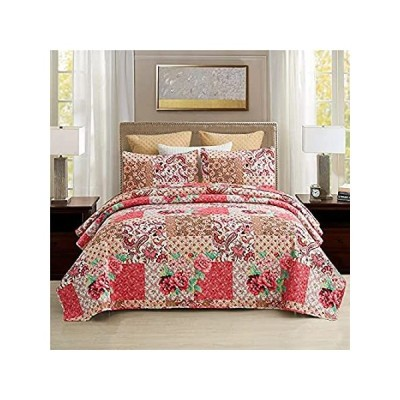 MEERY Home QueenQuilt Set,3-Piece Queen SizeQuiltSets with Pillow Shams-