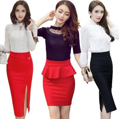 おとなの美人スタイルレーススカート「ウエストリボンスカート」お洒落なアシンメトリーデザイン セクシー スカート ウエストマーク 韓国ファッション ラップスカート 大人可愛い レディース ファッション