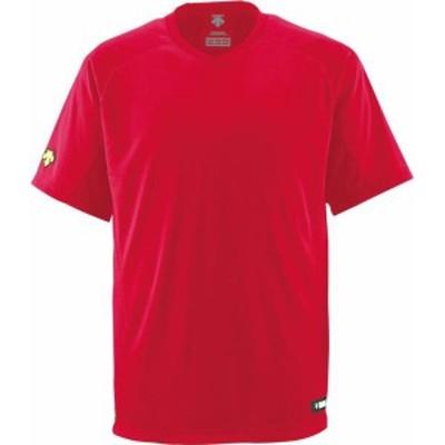 デサント ヤキュウソフト ジュニアV首Tシャツ 19FW レッド Tシャツ(jdb202-red)
