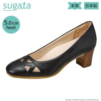 ムーンスター [セール] SUGATA レディース パンプス MS SGTJ003 ブラック moonstar pumpsale 抗菌