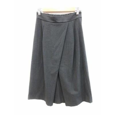 【中古】ドレステリア DRESSTERIOR LE TiROiR de DRESSTERIOR プリーツスカート ワンボックス ロング S グレー /AU