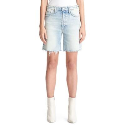 マザー レディース カジュアルパンツ ボトムス The Tripper Cutoff Fray Hem Denim Shorts SKATING ON