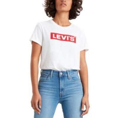 リーバイス レディース シャツ トップス Women's Classic Logo Perfect T-Shirt White