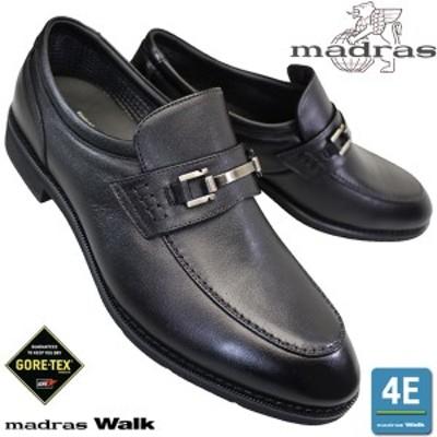 マドラスウォーク MW5910 黒 メンズ ビジネスシューズ ビットスリッポン 本革 4E ゴアテックス 日本製
