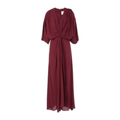 エリカ カヴァリーニ ERIKA CAVALLINI ロングワンピース&ドレス ディープパープル 40 レーヨン 100% ロングワンピース&ドレス