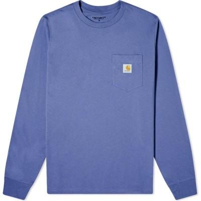 カーハート Carhartt WIP メンズ 長袖Tシャツ ポケット トップス long sleeve pocket tee Cold Viola