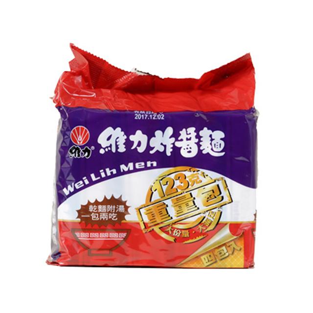 維力 炸醬麵重量包123g(4包/袋)